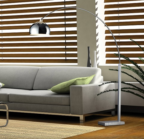 Penbrook Arc Floor Lamp In Silver D1428 from Dimond Lighting