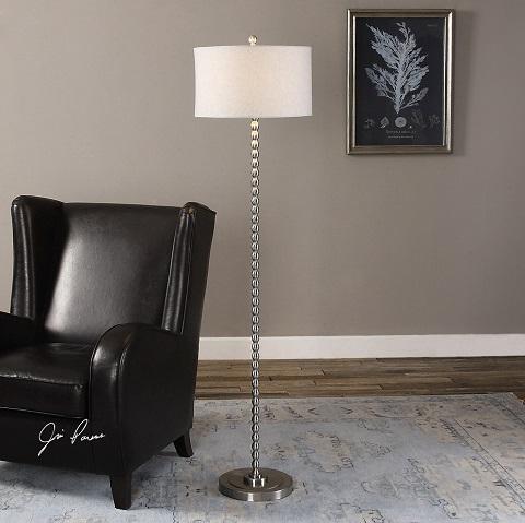 Sherise Beaded Nickel Floor Lamp 28640-1 from Uttermost