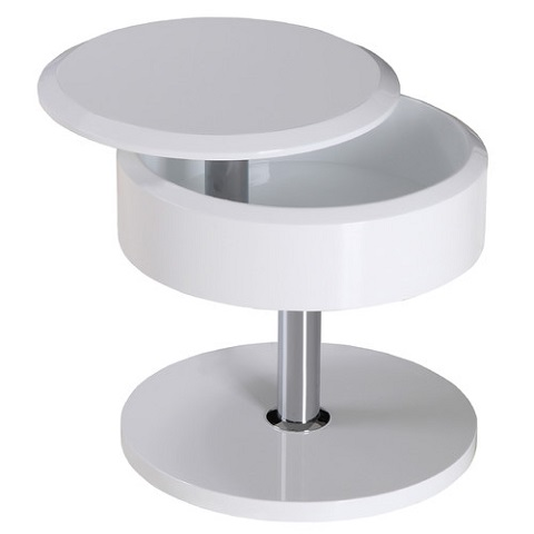 Tokyo Side Table In White ST1117-WHT from Whiteline Imports