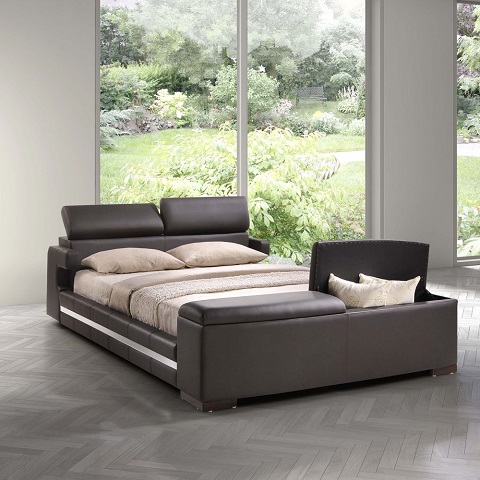Truffaut King Bed in Espresso 800217 from Zuo Modern