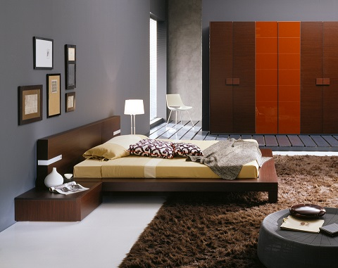 Win Wenge Queen Sized Bed T2666BBA53206 from Rossetto Furniture