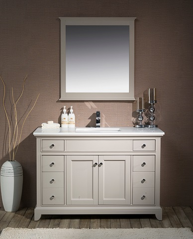 "Arianny 49"" Single Sink Bathroom Vanity TY-7340-49-QZ from Stufurhome"