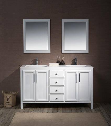 "Emily 59"" Single Sink Bathroom Vanity TY-6262-59-QZ from Stufurhome"