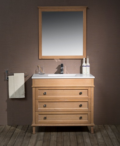 "Norwood 37"" Single Sink Bathroom Vanity TY-7223-37-QZ from Stufurhome"