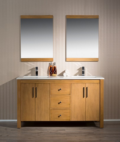 "Windsor 59"" Single Sink Bathroom Vanity TY-7585-59-QZ from Stufurhome"