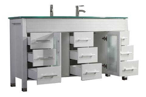 "Figi 63"" Double Sink Bathroom Vanity Set MTD-8129 from MTD"