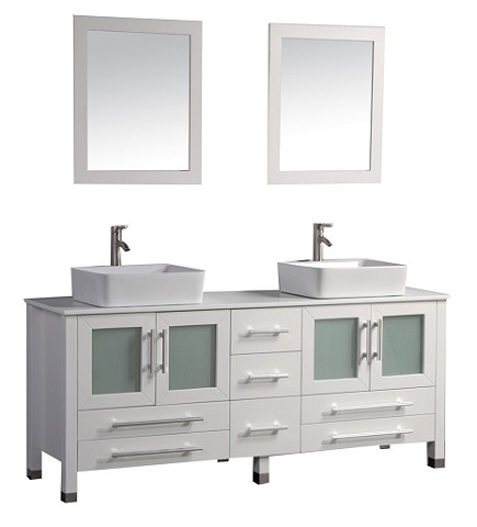 "Malta 71"" Double Sink Bathroom Vanity Set MTD-8119 from MTD"