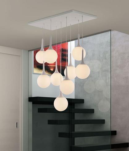Epsilon Ceiling Lamp 50088 in White from Zuo Modern