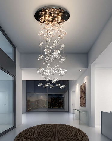 Inertia Ceiling Lamp 50115 in Clear from Zuo Modern