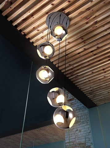 Meteor Shower Ceiling Lamp 50102 in Chrome from Zuo Modern