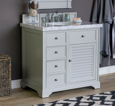 "Savannah 36"" Single Bathroom Vanity Cabinet 238-104-V36-UGR in Urban Gray from James Martin Furniture"