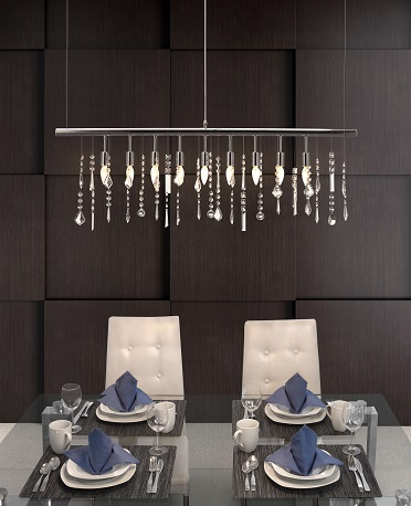 Shooting Stars Ceiling Lamp 50029 in Chrome from Zuo Modern
