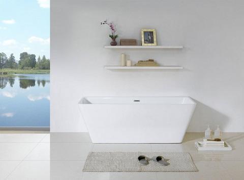 """Bellagio 58"""" Soaking Bathtub PBT-BELLAGIO-5828-CR by Pacific Collection"""