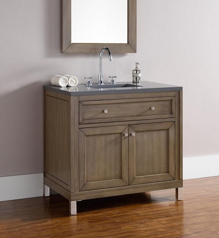 "Chicago 36"" Single Bathroom Vanity 305-v36-www from James Martin Furniture"
