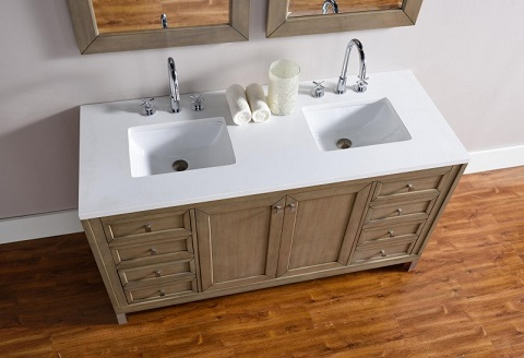 "Chicago 60"" Double Bathroom Vanity 305-v60d-www from James Martin Furniture"