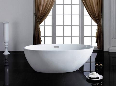 "Cosmo 66"" Soaking Bathtub PBT-COSMO-6633-CR by Pacific Collection"