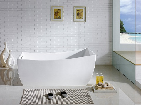 """Luxor 66"""" Soaking Bathtub PBT-LUXOR-6631-CR by Pacific Collection"""