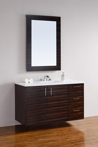 "Metropolitain 48"" Single Bathroom Vanity 850-v48-meb from James Martin Furniture"