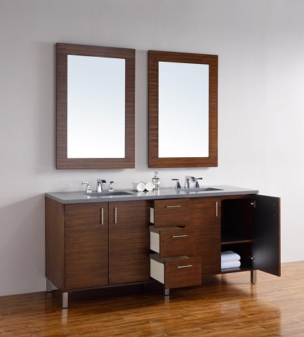 "Metropolitain 72"" Double Bathroom Vanity 850-v72-awt from James Martin Furniture"