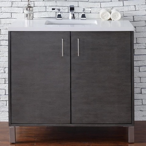 "Metropolitan 36"" Single Bathroom Vanity 850-v36-sok from James Martin Furniture"