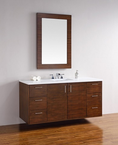 "Metropolitan 60"" Single Bathroom Vanity 850-v60s-awt from James Martin Furniture"