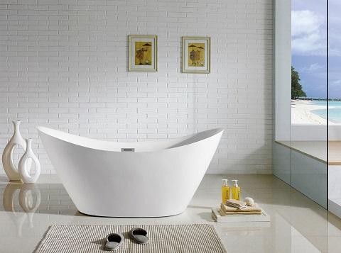 "Riviera 67"" Soaking Bathtub PBT-RIVIERA-6728-CR by Pacific Collection"