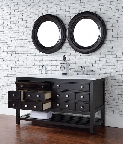 "Vancouver 60"" Double Bathroom Vanity with Drawers 505-v60d-ceo from James Martin Furniture"