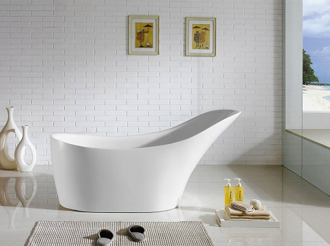 "Venetian 67"" Soaking Bathtub PBT-VENETIAN-6729-CR by Pacific Collection"
