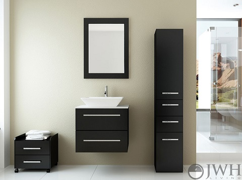 "Carina 24"" Wall Mounted Bathroom Vanity JWH-3114 from JWH Living"