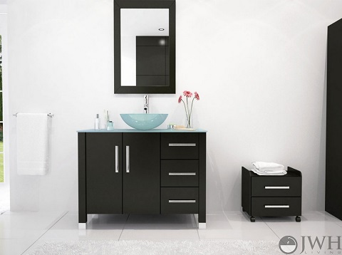 "Crater 39.5"" Bathroom Vanity JWH-3118 from JWH Living"