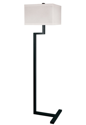 Right Angle Metal Floor Lamp in Bronze , 902 by Lamp Works