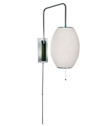 Cigar Swingarm Wall Sconce in White, 402 by Lamp Works