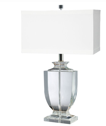 Crystal Rectangular Urn Table Lamp, 722, by Lamp Works