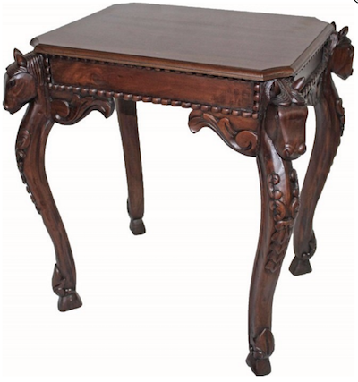 Horse Head Side Table, IN-51 by Harris Furniture