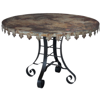 """Reclaimed Tin 47"""" Bistro Table, 715051 by Guild Master"""