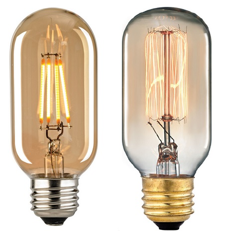 LED vs Vintage Filament Bulbs from ELK Lighting