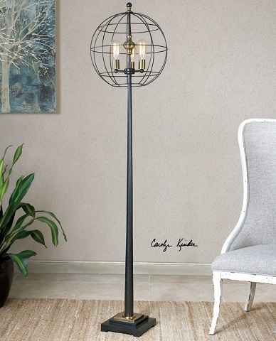 Palla Round Cage Floor Lamp 28628-1 from Uttermost