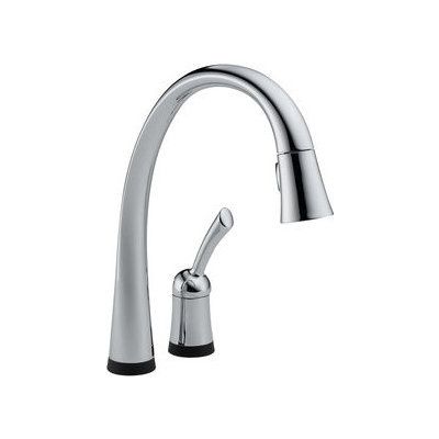 Single Handle Kitchen Faucet with Pull-Out Spray 980t-dst by Delta
