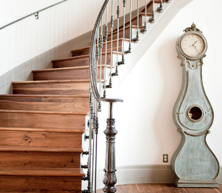 There are all sorts of variations on the traditional standing clock. (By Alice Lane Home Collection, photo by Ashlee Raubach)