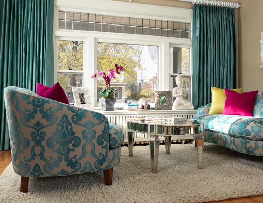 Damask speaks of elegance and luxury. (by Julie Dasher, photo by Susan Gilmore)