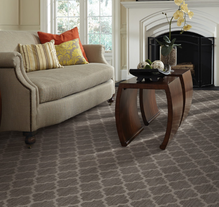 Arabesques are commonly found in carpeting and tile (by Tuftex Carpets of California)
