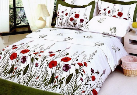 Garden, 6 Piece Duvet Cover Sheet Set LE120Q by La Vele