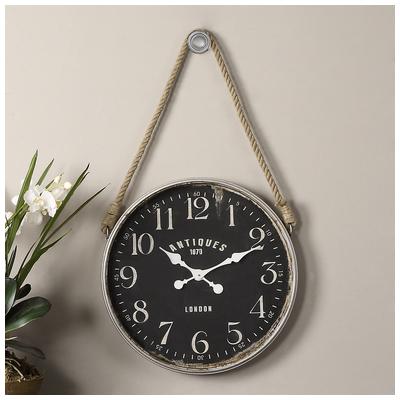 Bartram Wall Clock, 06428 by Uttermost