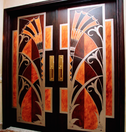 Bold sections of bright color are a common attraction in art deco. (By Interior Styles, inc.)