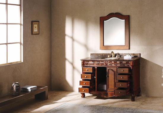 """Solid Wood 48"""" Single Granite Top Bathroom Vanity, 206-001-5100 by James Martin"""