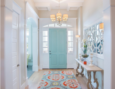 The right color can wake up a sleepy section of your home. (By Joe Carrick Design)