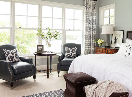 Tone up your palette of greens with a little bit of green. (By Marthat O'Hara Interiors)