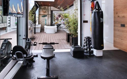 Home gyms can fit right in with your decor. (Brandon Architects)