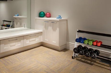 Keeping workout spaces clean and organized helps keep you on the wagon. (By Jackson and Leroy)