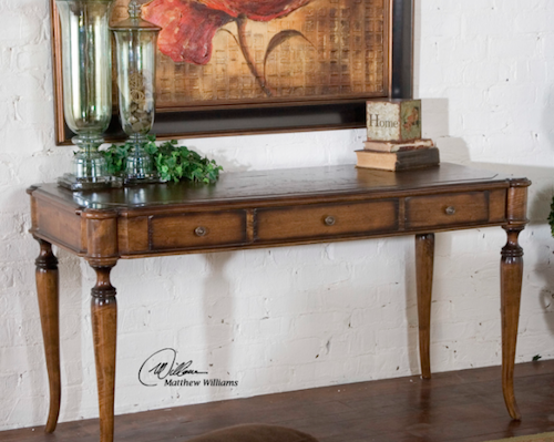 Colter Honey Stained Writing Desk, 25574 by Uttermost